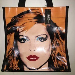 Andy Warhol Vinyl Tarp Tote Bag ft. Debbie Harry
